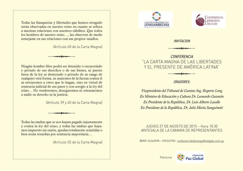 Conferencia. La Carta Magna de las libertades y el presente de América Latina