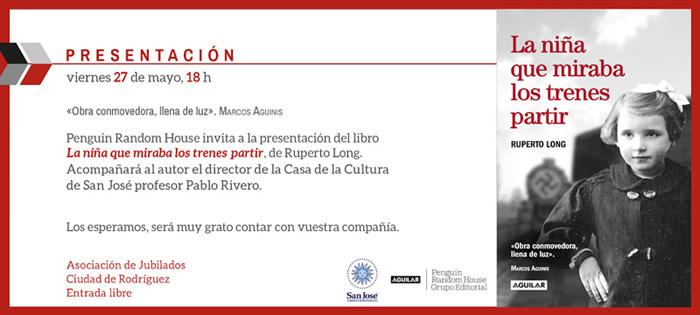 Invitación. Presentación en la Ciudad de Rodríguez