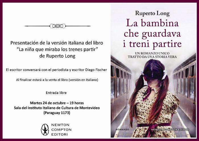 """Edición italiana de """"La niña que miraba los trenes partir"""" , de RUuerto Long"""