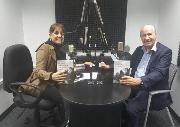 Ruperto Long durante la entrevista en el programa de la periodista y escritora Patricia del Río.
