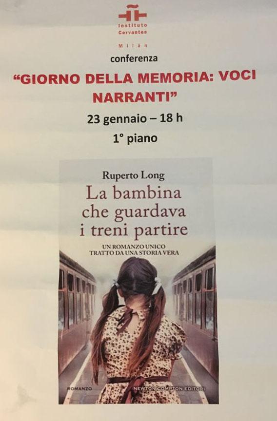 Afiche de la presentación en el Instituto Cervantes de Milán.