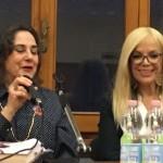 Martha Canfield (Universidad de Florencia) y Sylvia Irrazabal (Agregada Cultural de la Embajada de Uruguay en Italia).