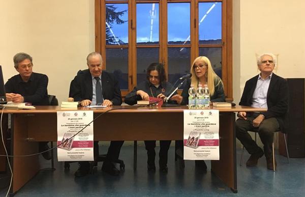 Pío Villanacci, Ruperto Long, Martha Canfield, Sylvia Irrazabal, y Flavio Fiorani.
