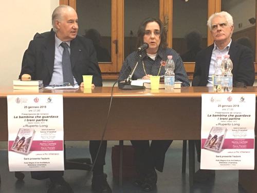 Ruperto Long, Martha Canfield (Universidad de Florencia), y Flavio Fiorani (Universidad de Módena).