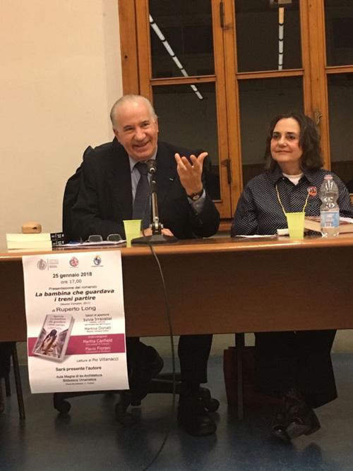 Ruperto Long y Martha Canfield (Universidad de Florencia).